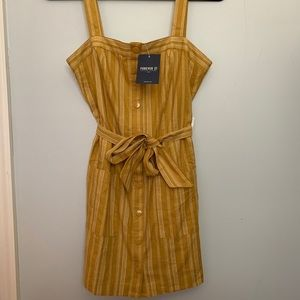 NWT forever 21 mustard yellow dress
